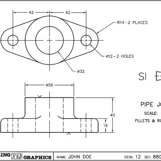 The students generate an engineering drawing directly from