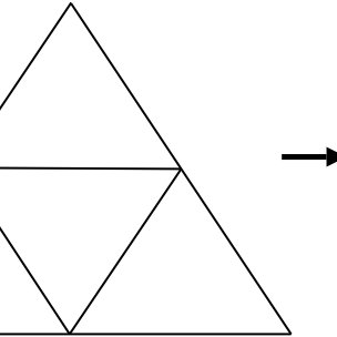 Three famous fractals: The Sierpinski triangle (left), the
