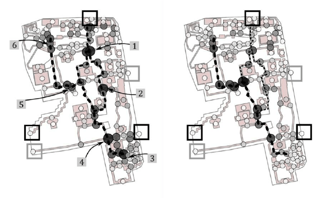 Yuyuan Garden plan. Circles show the position of each