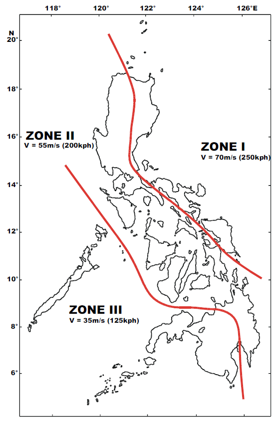 Current (a) and new proposed (b) wind speed maps in the