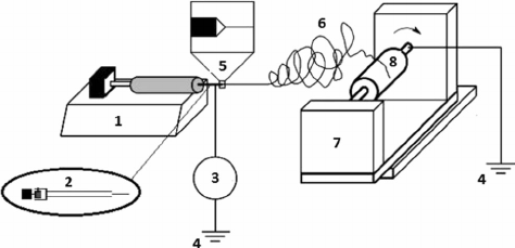 Schematic view of electrospinning set-up used for
