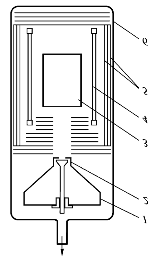 small resolution of diagram of setup used for melting quartz glass with layered filling of the crucible 1 conical hopper 2 powder dispenser 3 crucible
