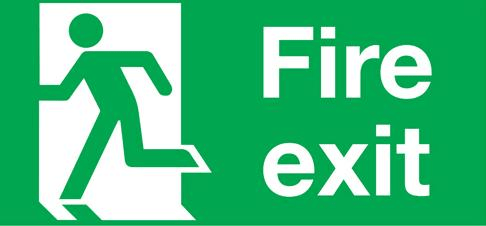 example of fire exit diagram hyundai accent ecu wiring static sign for emergency egress download scientific