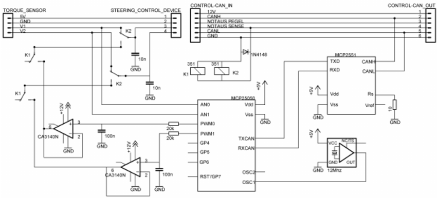 Control Circuit To Interface Electric Power Steering Figure 2 Of 3