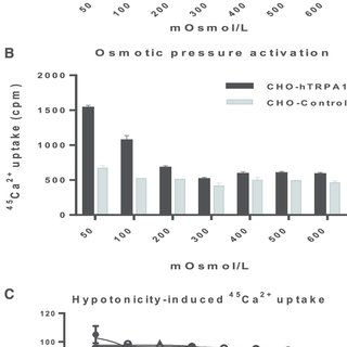 Evaluation of osmotic pressure activation of TRPV4 and