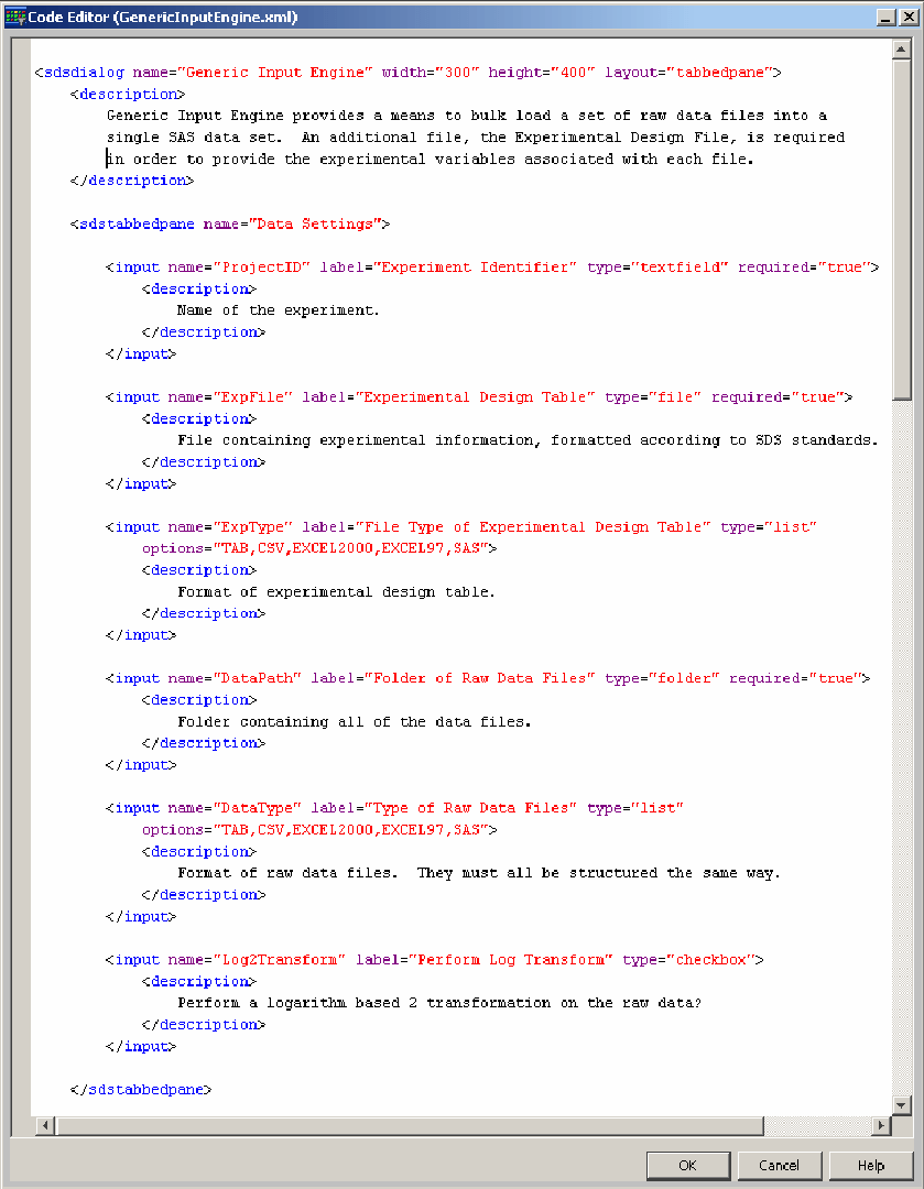 hight resolution of xml for generic input engine