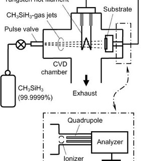 Schematic diagram of the CVD system. The sample holder was