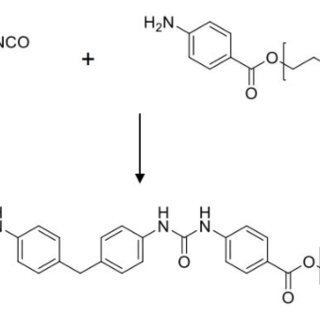 Representative reaction between isocyanate and amine to