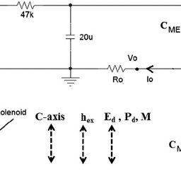 (a) Circuit for single capacitor detection in a direct ME