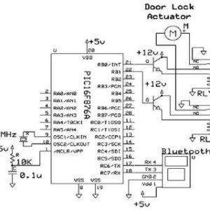 Schematic of Car Door Lock System | Download Scientific