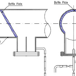 Schematic of the proposed baffle installation to improve