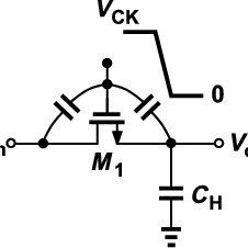 A sample and hold circuit by using of a simple NMOS switch