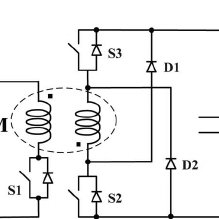 Charging-mode equivalent circuit of the three-phase
