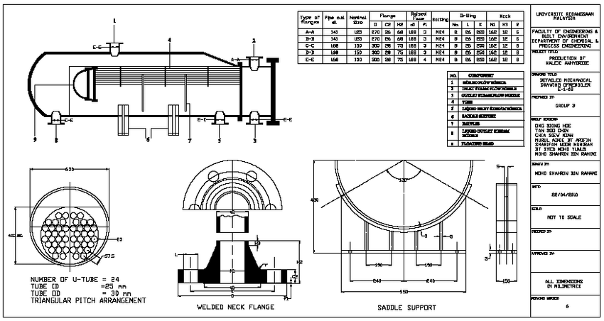 11: Drawing of mechanical design by using AutoCAD for