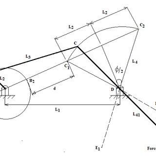 The torque transmitted from crank-rocker mechanism