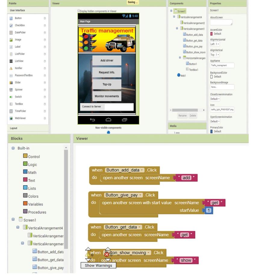 MIT App inventor interface   Download Scientific Diagram