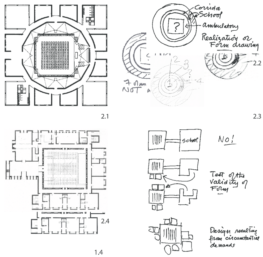 Selections from drawings and sketches for the First