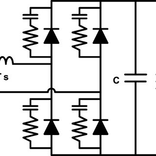 Schematic diagram of the full-bridge diode rectifier