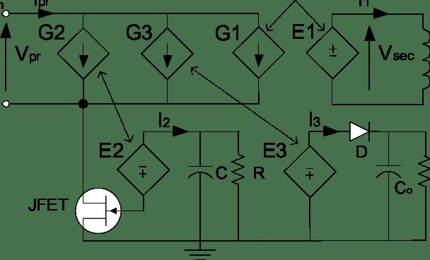 BEHAVIORAL MODEL OF A FLYBACK SELF-OSCILLATOR CIRCUIT