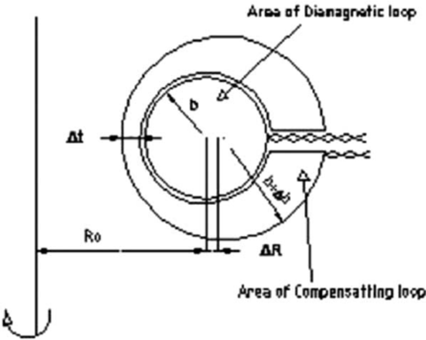 Schematic diagram of diamagnetic and compensating loops
