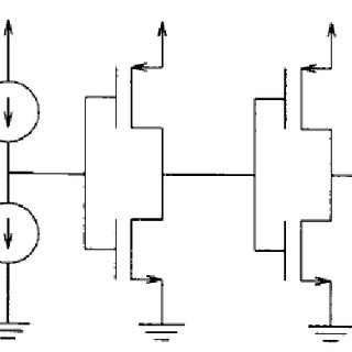 7 Current comparator. Two inverters cascaded in series [19