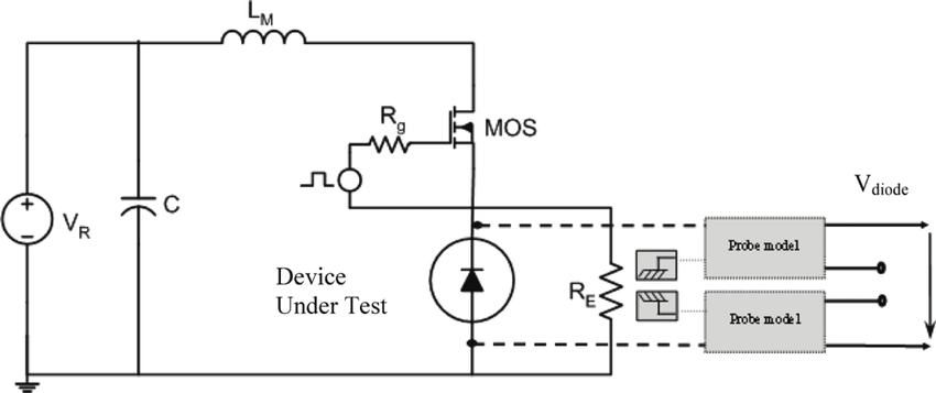 Mosfet-diode switching cell for the measurement and