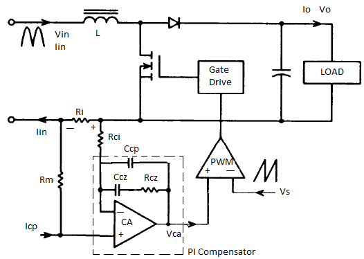 from separate pfc and constant current circuits a full schematic