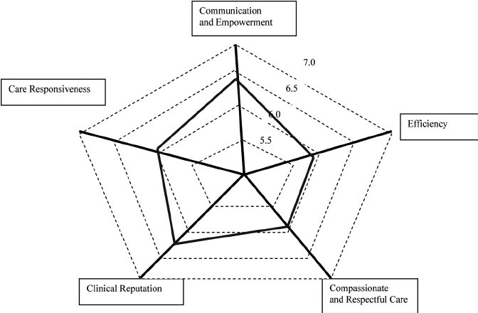 Spider-web diagram based on the unweighted scores