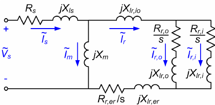 Electrical equivalent circuit representation of double