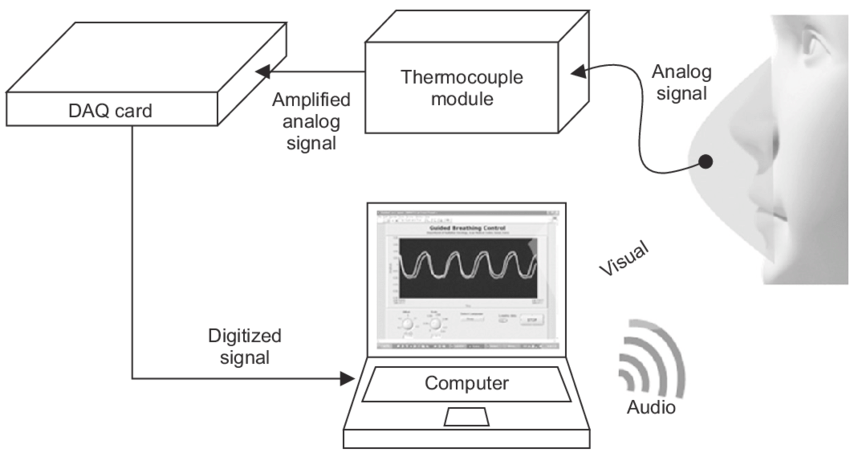 Schematic diagram of the Audiovisual Guided Breath System