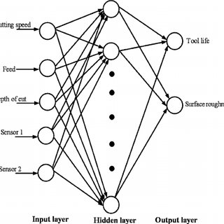 2. A schematic drawing of a biological neural network