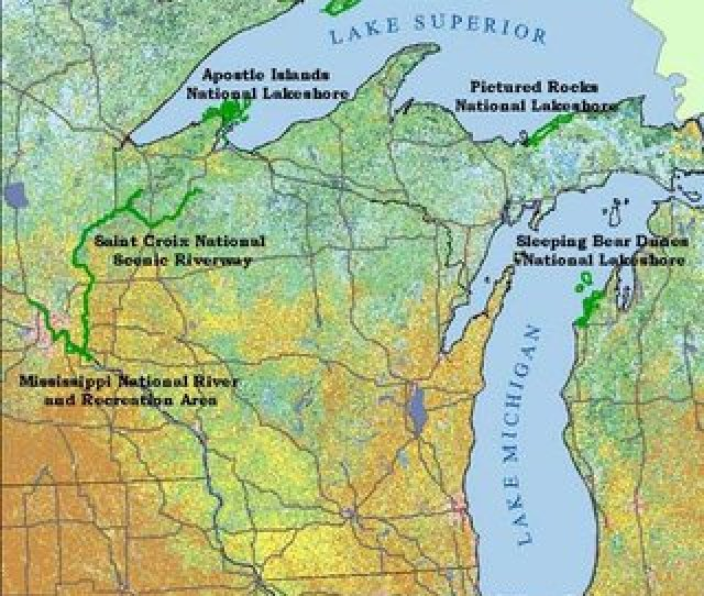 Nine National Park Units Of The Great Lakes Inventory Monitoring Network