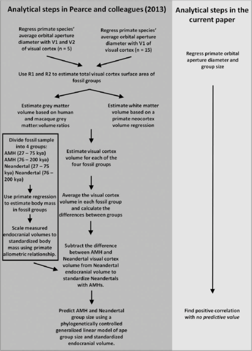 small resolution of analytical steps in the work by pearce et al 2013 vs analytical