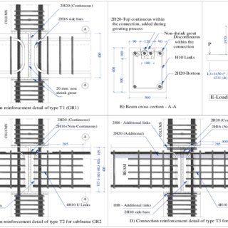 Rupture of beam and column near expansion joint of a