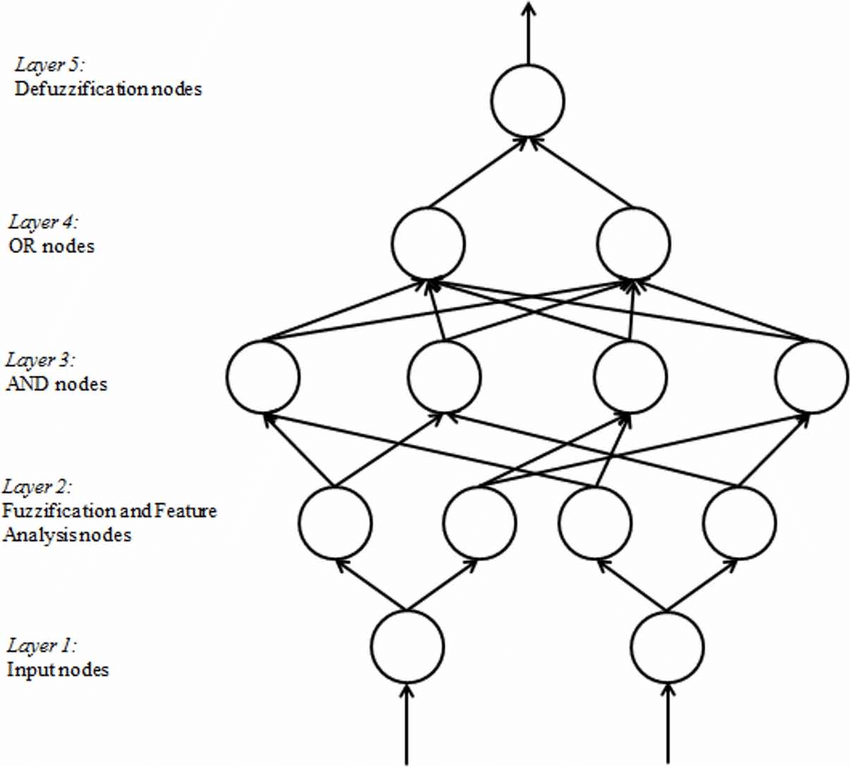 The network structure for neuro-fuzzy model (Chakraborty