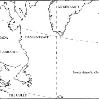 Map of the western North Atlantic showing the locations of