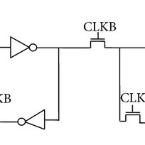 Schematic diagram for pass transistor logic style flip