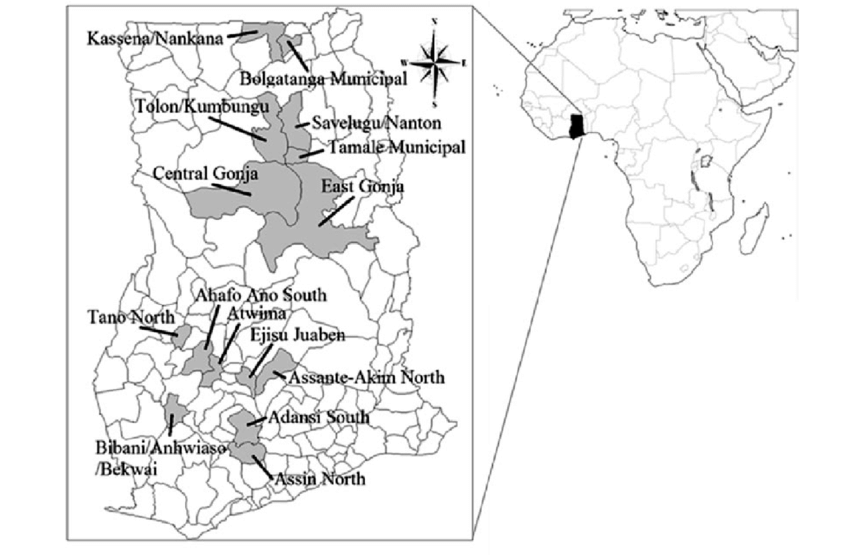 Site map showing areas covered under the socio-economic