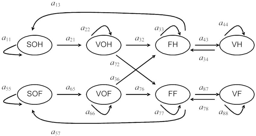 Life-cycle diagram for the gynodioecious Geranium