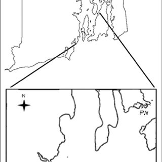 Map of the 2 Rhode Island sites: Bass Rock (BR) intertidal