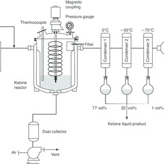 Schematic process flow diagram of the fermentor