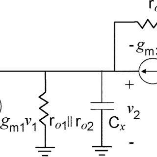 Open circuit schematic of the first-stage voltage