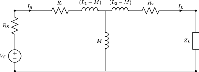 Transformer model equivalent T circuit of a basic wireless