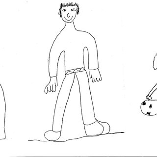 2 Examples of third-graders' drawings of a person who