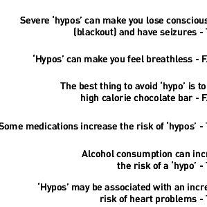 People with diabetes responses to a six-item hypoglycaemia