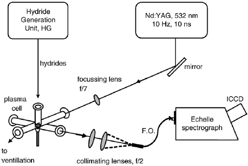 Schematic diagram of the HG-LIBS set-up. Volatile hydrides