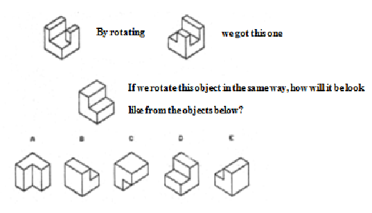 An example question in the Purdue Spatial Visualization