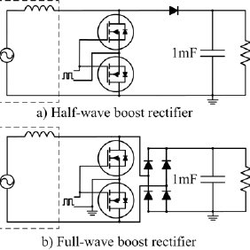 Full-wave boost rectifier: Average output power and