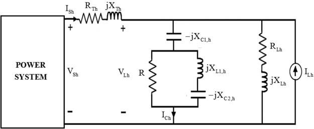 demonstrates a single-phase equivalent circuit of a sample