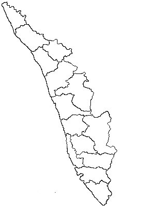1: Map of Kerala, India Source: Drawn based on map